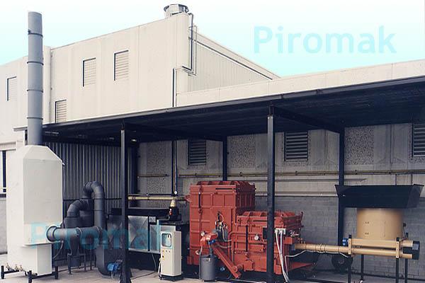 Impianto smaltimento rifiuti, piromak6